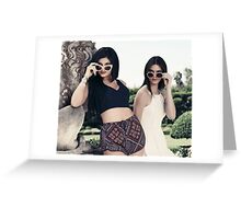Kendall and Kylie Jenner Shades Greeting Card