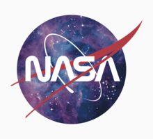 NASA Retro Nebula Logo Kids Tee