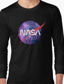 NASA Retro Nebula Logo Long Sleeve T-Shirt
