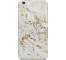 White And Gold Marble iPhone Case/Skin