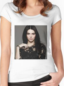 Kendall Jenner Gem Women's Fitted Scoop T-Shirt