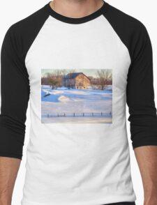 Snowy Farm Men's Baseball ¾ T-Shirt