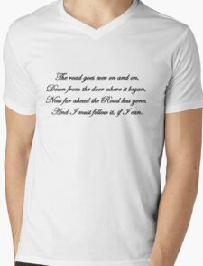 The road goes ever on and on... Mens V-Neck T-Shirt