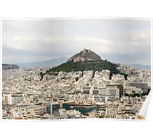 Greece, Athens, view of the city from Acropolis Hill Poster