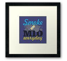 Smoke Mid Everyday Framed Print