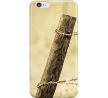 Fence Post and Barbed Wire iPhone Case/Skin