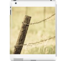 Fence Post and Barbed Wire iPad Case/Skin