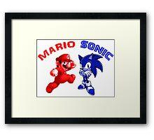 Mario & Sonic, 90's best friends Framed Print