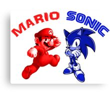 Mario & Sonic, 90's best friends Canvas Print