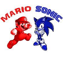 Mario & Sonic, 90's best friends Photographic Print