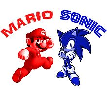 Mario & Sonic, 90's best friends Photographic Print