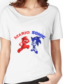Mario & Sonic, 90's best friends Women's Relaxed Fit T-Shirt