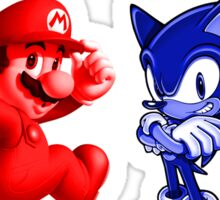 Mario & Sonic, 90's best friends Sticker