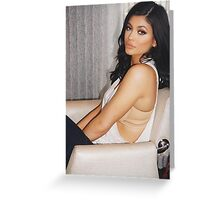 Kylie Jenner Chair Greeting Card