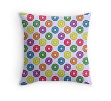 The Breakfast Selection - Fruity Loops Throw Pillow