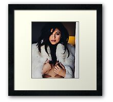 Kylie Jenner Fur Coat Framed Print