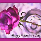 Happy Valentine's Day Purple Rose by daphsam