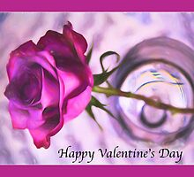Happy Valentine's Day Purple Rose by daphsam