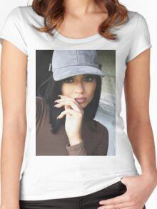 Kylie Jenner Hat 2 Women's Fitted Scoop T-Shirt