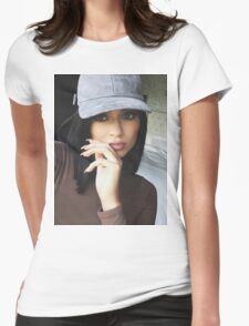Kylie Jenner Hat 2 Womens Fitted T-Shirt