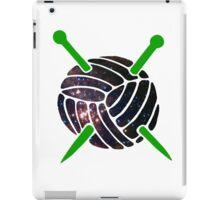 Galaxy Wool with Green Knitting Needles iPad Case/Skin