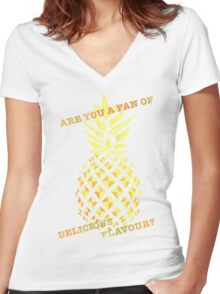 Are you a fan of delicious flavour? Women's Fitted V-Neck T-Shirt