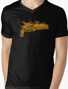 Golden Gun Mens V-Neck T-Shirt