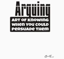 Words O'Wisdom - Arguing Black on White One Piece - Short Sleeve