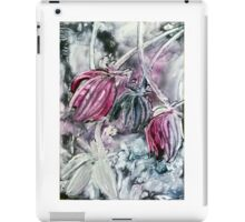 Flowers in pink and grey iPad Case/Skin