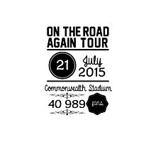 21st July - Commonwealth Stadium OTRA Photographic Print