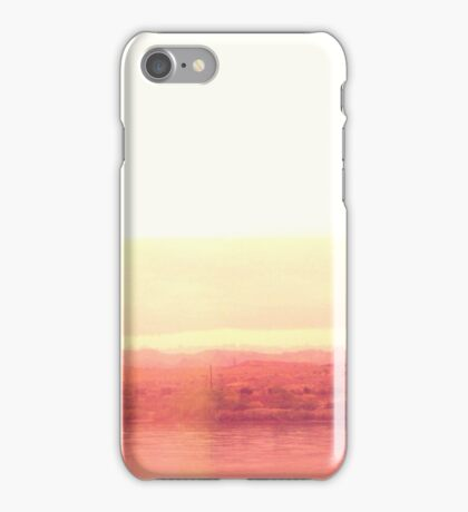 Modern Abstract Desert Water Scape #Redbubble iPhone Case/Skin
