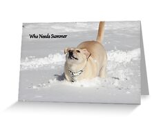 Who Needs Summer Greeting Card