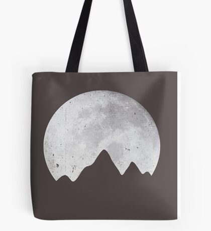 Moon Over Mountains Tote Bag