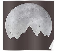 Moon Over Mountains Poster