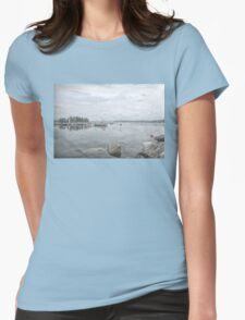 Misty Moorings Womens Fitted T-Shirt