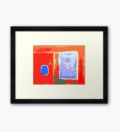 ABSTRACT 109 Framed Print