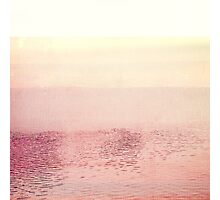 Pink Layered Water Scape, Minimal Abstract Photography #redbubble Photographic Print