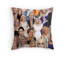 Amy Poehler Collage Throw Pillow