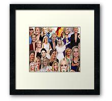 Amy Poehler Collage Framed Print