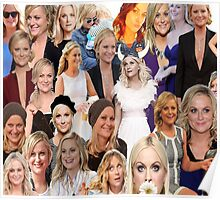 Amy Poehler Collage Poster
