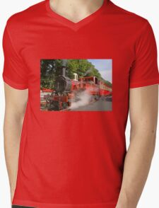 Hutch In Steam Mens V-Neck T-Shirt