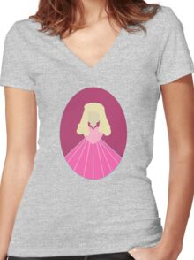 Simplistic Princess #2 Women's Fitted V-Neck T-Shirt