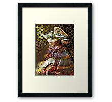Space Pirate. Collaboration with Trena Framed Print