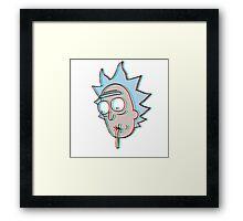 3D Dimension Rick Sanchez Framed Print
