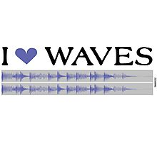 I Love Waves Photographic Print