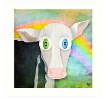 The Cow Who Freed Himself Art Print