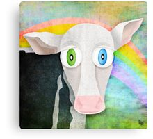 The Cow Who Freed Himself Canvas Print