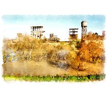Rome: Tiber River industrial archeology Photographic Print