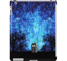 Lonely time travel phone box art painting iPad Case/Skin