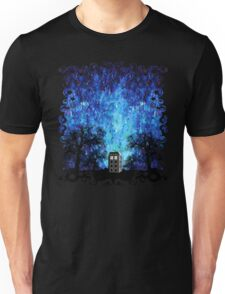 Lonely time travel phone box art painting Unisex T-Shirt